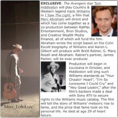 A new role for Tom. There will be singing. It's gonna be good. *Thumbsup*