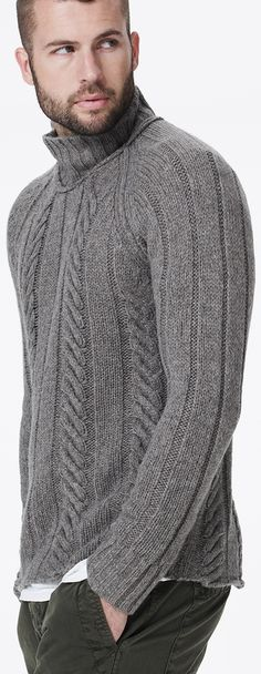 James Perse Cable Knit Raglan Sweater