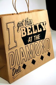 The Diamond Deli - Brandon Galosi / Graphic Design, Illustration Cool Packaging, Print Packaging, Packaging Design, Deli Shop, Deli Cafe, Sandwich Bar, Sandwich Shops, Cafe Quotes, Italian Deli