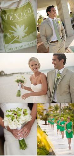Adorable wedding at Excellence Playa Mujeres :) www.vowtotravel.com Book your tropical getaway today!