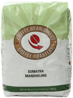 Coffee Bean Direct Sumatra Mandheling, Whole Bean Coffee, 5-Pound Bag - http://www.teacoffeestore.com/coffee-bean-direct-sumatra-mandheling-whole-bean-coffee-5-pound-bag/