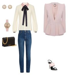 """Office outfit"" by georgi-medrea on Polyvore featuring Roksanda, Alexander McQueen, Giuseppe Zanotti, Miu Miu, Kate Spade and Topshop"