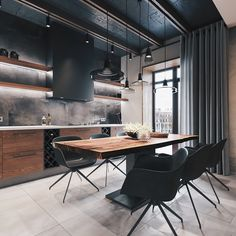 loft interior 2 on Behance Source by mtherees decoration designers luxury Design Loft, Loft Interior Design, Küchen Design, Interior Architecture, Interior Decorating, House Design, Design Trends, Loft Kitchen, Home Decor Kitchen