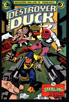 eclipse comics DESTROYER DUCK #3 Steve Gerber Jack KIRBY Anti Marvel Howard the Duck & Starling by Superman's Jerry Siegel with Val Mayerik