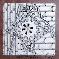 The World's most recently posted photos of steampunk and zentangle Tangle Doodle, Tangle Art, Zen Doodle, Doodle Art, Ink Pen Drawings, Zentangle Drawings, Doodles Zentangles, Steampunk Patterns, Steampunk Design