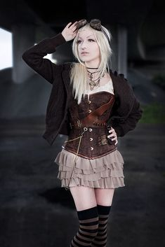 cute #steampunk gal in outfit