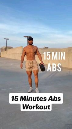 15 Minute Ab Workout, Abs And Cardio Workout, Gym Workout Videos, Abs Workout Routines, Weight Training Workouts, Gym Workout For Beginners, Fitness Inspiration Body, Bodybuilding Training, Calisthenics