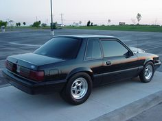 """Foxbody """"Notchback"""" Ford Mustang. Needs black wheels but I'd roll it!"""