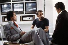 "Robert De Niro, Martin Scorsese & Jerry Lewis on the set of ""King of Comedy"" (1983)"