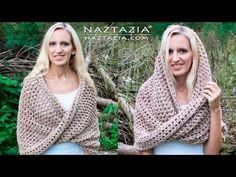 DIY Tutorial - How to Crochet Mobius Twist Shawl and Hooded Cowl - Moebius Wrap - Look how cozy this looks!