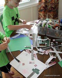 Minecraft Stickers -- Frugal Family Times: Minecraft Birthday Party: Printables, Crafts and Games!