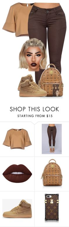 """Pre-fall outfit"" by chiamaka-ikaraoha ❤ liked on Polyvore featuring The Fifth Label, Lime Crime, MCM, NIKE and Audemars Piguet"