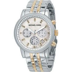 MICHAEL KORS MK5057 Stainless steel and gold-plated chronograph watch | selfridges.com