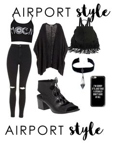 """Untitled #1"" by asaid246 ❤ liked on Polyvore featuring H&M, Topshop, The Code, Child Of Wild, Casetify, 275 Central, GetTheLook and airportstyle"