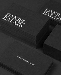 Self promotion by Daniel Balazs, via Behance