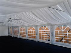 Dancovers 6m by 12m marquee with white roof linings only £1200 NO VAT
