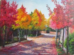 Nossa charmosa rua de outono.