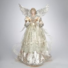 Lighted+Angel+Christmas+Tree+Topper+Item+#UL2176++Ornate+angel+is+w...