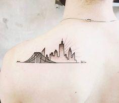 New York Tattoo, Nyc Tattoo, Future Tattoos, Small Tattoos, Sleeve Tattoos, Tatting, Body Art, Instagram Posts, Style