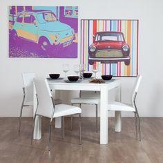 tavolo allungabile in legno da cucina shabby chic con 4 sedie ... - Sedie Tavolo Pranzo