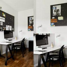 Fantastically Swedish  black and white workspace blackboard