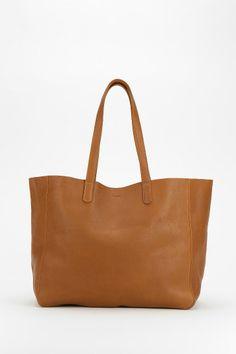 BAGGU Oversized Leather Tote Bag
