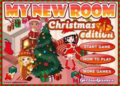 Udekoruj pokój w klimacie Świąt Bożego Narodzenia! http://www.ubieranki.eu/gry/3659/moj-swiateczny-pokoj.html