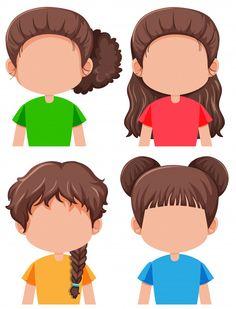 Set of brunette female character Free Ve. Body Parts Preschool Activities, Art Activities For Toddlers, Free Preschool, Preschool Classroom, Kindergarten Activities, Book Activities, Diy Educational Toys For Toddlers, Student Clipart, School Border