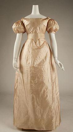 Dress, ca. 1820, American or European, silk. In The Metropolitan Museum of Art collection.