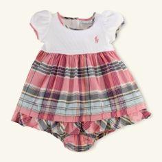 Cotton Madras Dress - Layette Dresses & Rompers - RalphLauren.com