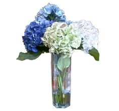 Faux #botanicals saturated in color complement any #watercolor-inspired design. Get this #hydrangea floral at #Havertys.