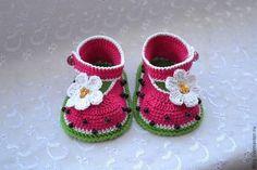 Для новорожденных, ручной работы. Ярмарка Мастеров - ручная работа Туфельки из хлопка. Handmade.