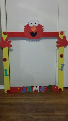 Elmo  party marco para foto
