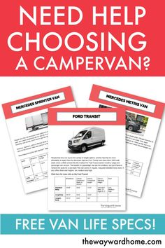 Do you need help choosing your motorhome? Read the detailed specifications for 10 … Need help picking your campervan Check out these detailed specifications for 10 different vans Choosing the right van to turn into a camper is the first step in living a l Van Life Blog, Buying An Rv, Campervan Interior, Cool Vans, Van Camping, Sprinter Van, Ford Transit, Camper Van, Diy Camper
