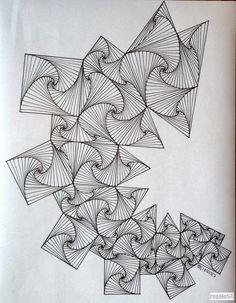 #regolo54 #geometry #symmetry #pattern #ink #handmade #string #artorart #art #Escher #mcescher #structure #mandalala #mandala #disk #circle