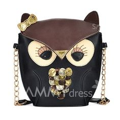 $11.85 Sweet Women's Shoulder Bag With Animal Pattern and Chains Design