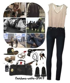 //Guess the world has changed//No, its the same as it ever was: the weak get taken// by fandoms-unite-3947 on Polyvore featuring Maje, Paige Denim, Converse and United by Blue
