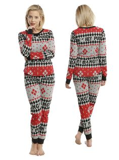 Harley Quinn Girls Thermal Sleep Set