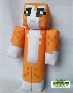 Plush Minecraft Inspired Stampylongnose toy by CraftingNerdy, $17.99