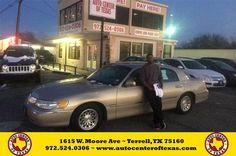 Congratulations to Kinard Brumsey on your #Lincoln #Town Car purchase from Fidel Rodriguez at Auto Center of Texas! #NewCar