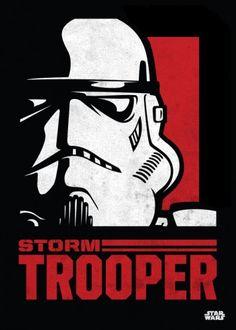 Star Wars Stormtrooper metal poster - PosterPlate posters made out of metal Star Wars Poster, Star Wars Film, Star Wars Icons, Star Wars Fan Art, Star Wars Stencil, Star Wars Pictures, Star Wars Images, Stargate, Cuadros Star Wars