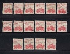 Classic 20 cent Fire Pumper Coil Stamps.  Complete set of Plate Numbers 1-16... More Quality Stamps from DandeoneStamps... on eBay Now...  Happy Collecting..  Cheers,  Dave