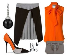Fade To Grey.... by maggiebell53 on Polyvore featuring David Yurman, Moschino and Hermès