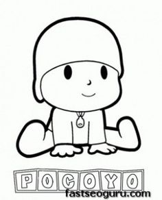 Main characters cartoon pocoyo coloring pages - Printable Coloring Pages For Kids