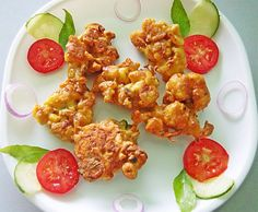Cauliflower fried fritters.