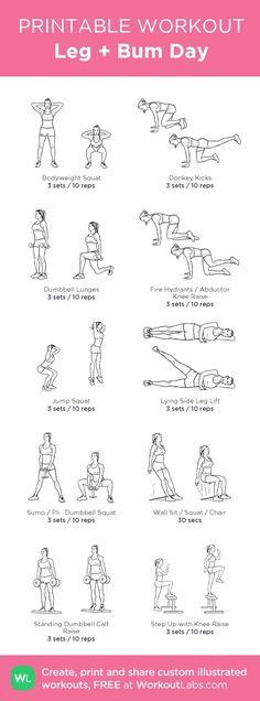 Leg + Bum Day Workout: