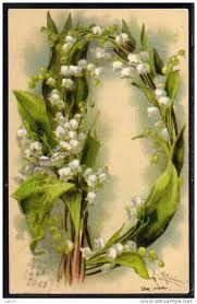 """Letter """"D"""": Catharina Klein's alphabet (Lily of the valley)"""