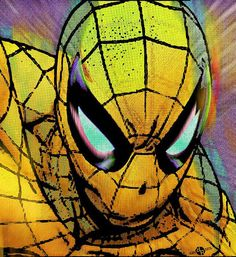 Spider-Man Pop Gold on Giclee Print by RubinoFineArt / Tony Rubino on Etsy - Spiderman, re-imagined in pop art style in a yellow/gold. Prints starting at $18 - perfect home decor for boy's room or Spiderman enthusiast!