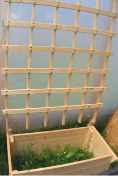 the basic template for my raised bed trellis