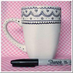 Cute DIY Sharpie Mug